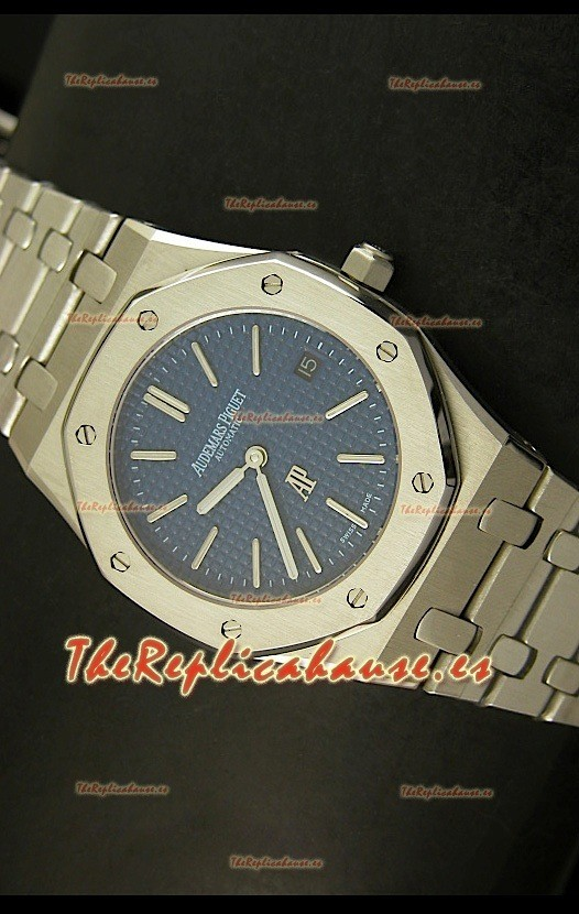 Audemars Piguet Royal Oak Ultra Thin, Reloj Réplica Suiza, Dial Azul
