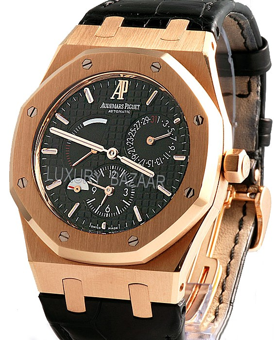 Details about Audemars Piguet Rose Gold Royal Oak Dual Time 26120OR