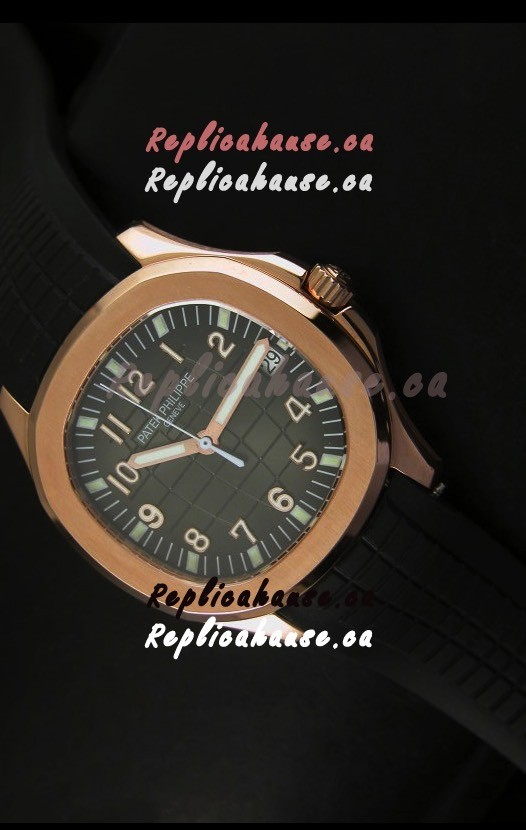 AAA++ Quality Patek Philippe Aquanaut Rose Gold in Grey Dial Watch   1